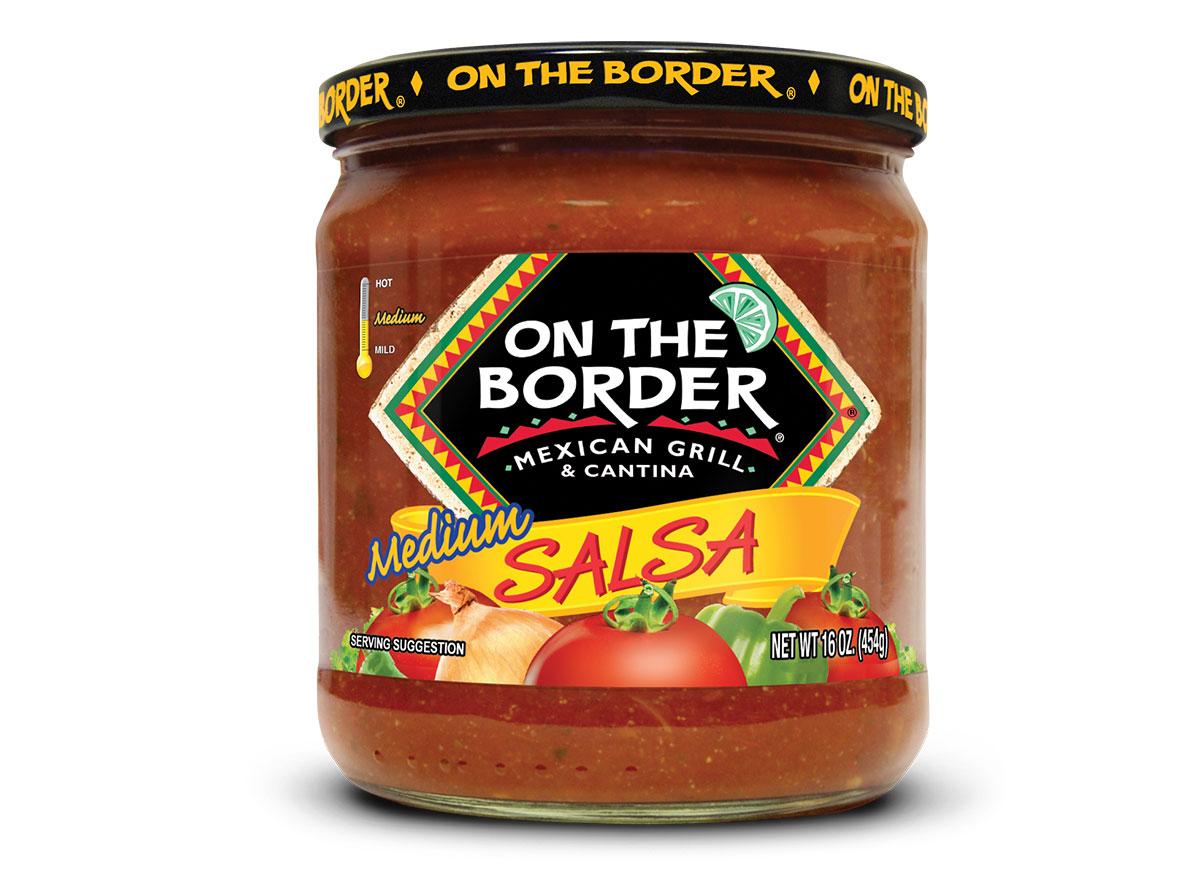 jar of on the border salsa
