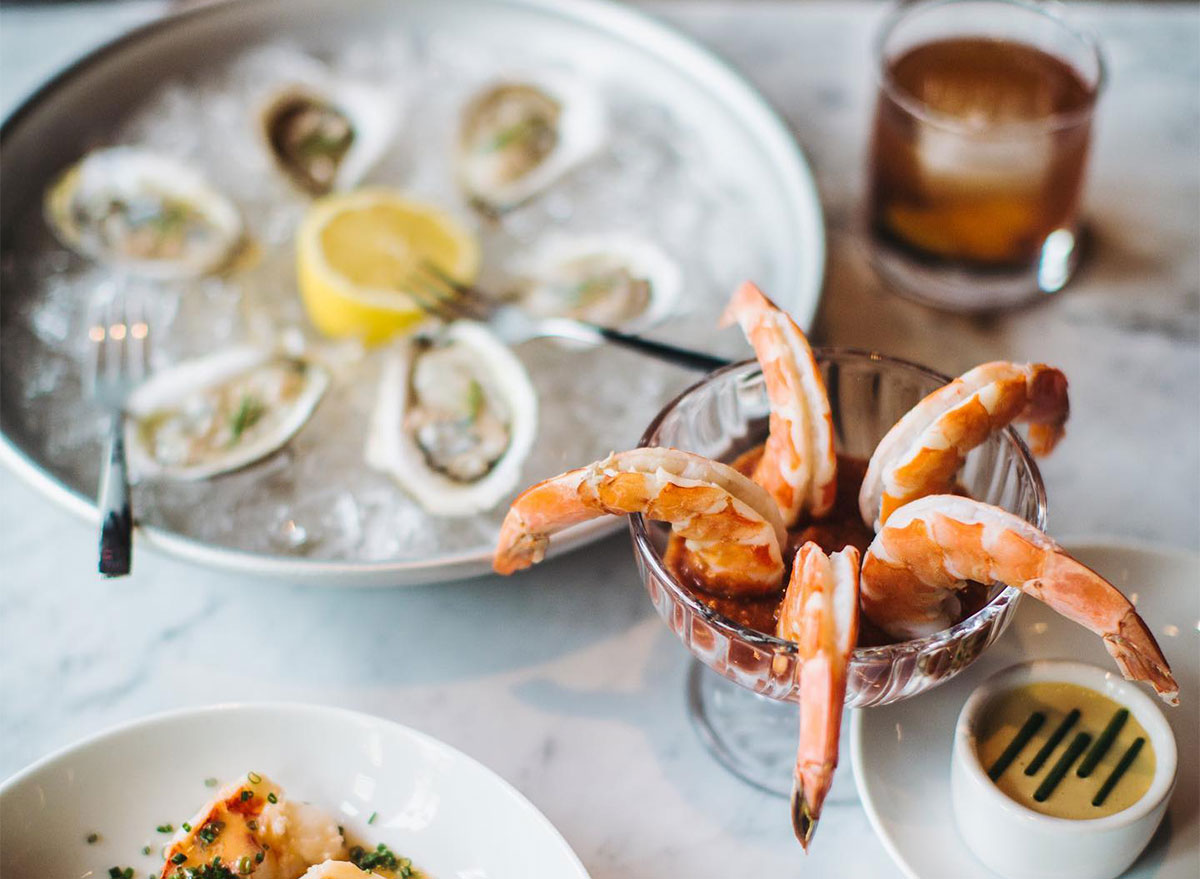 oysters with crab legs