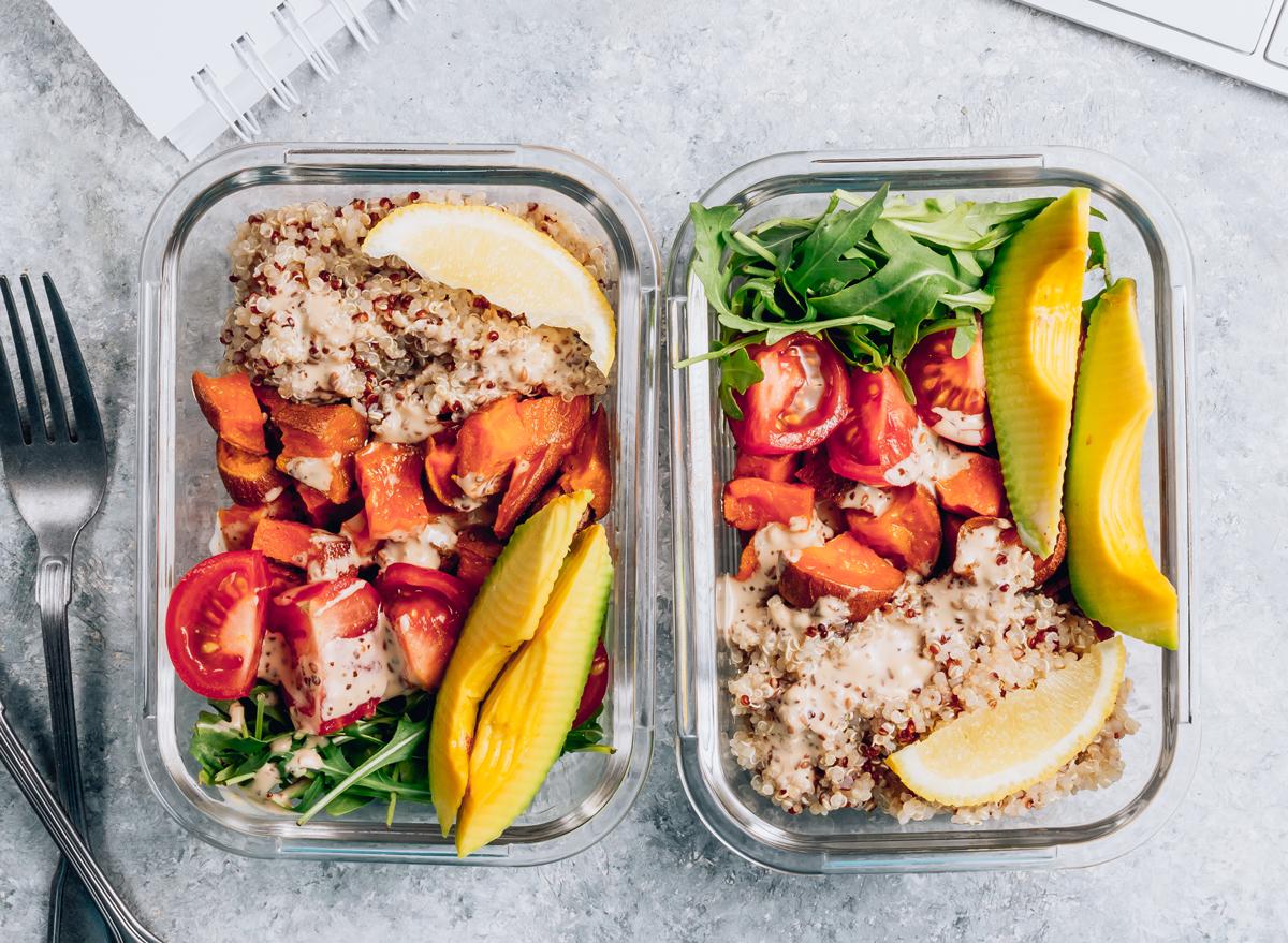 healthy vegetarian vegan plant based dinner meal prep