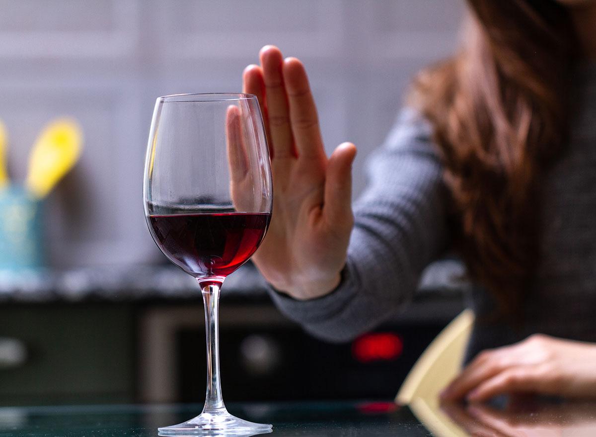 refusing wine