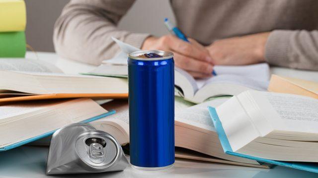 studying energy drinks
