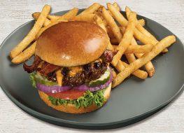tgi fridays whiskey glazed burger with fries