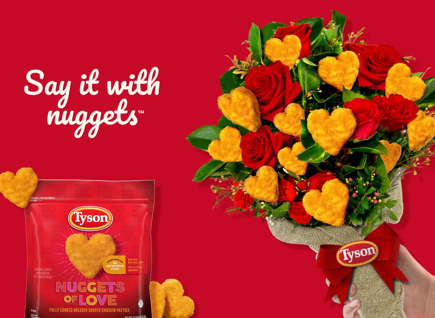 Tyson chicken nuggets bouquet