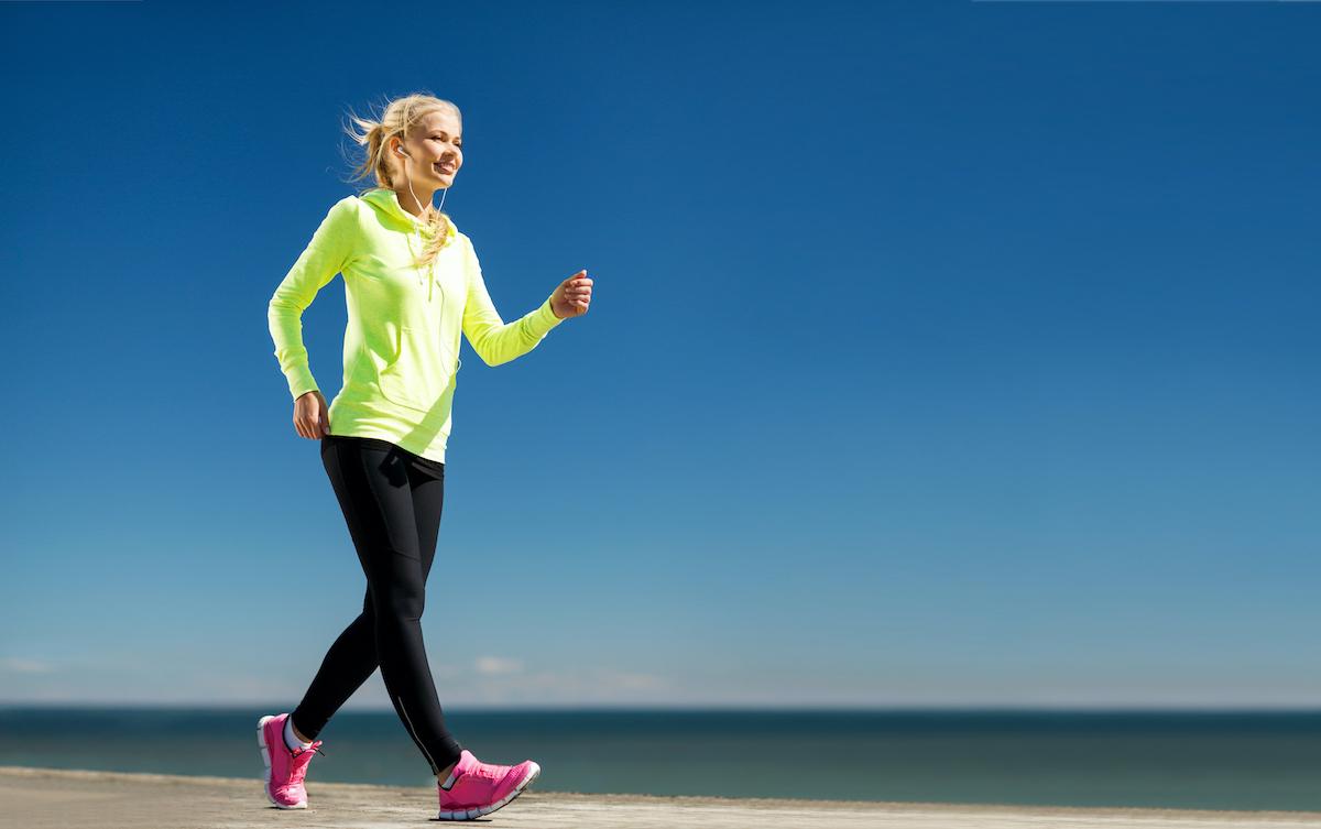 woman doing a walking workout