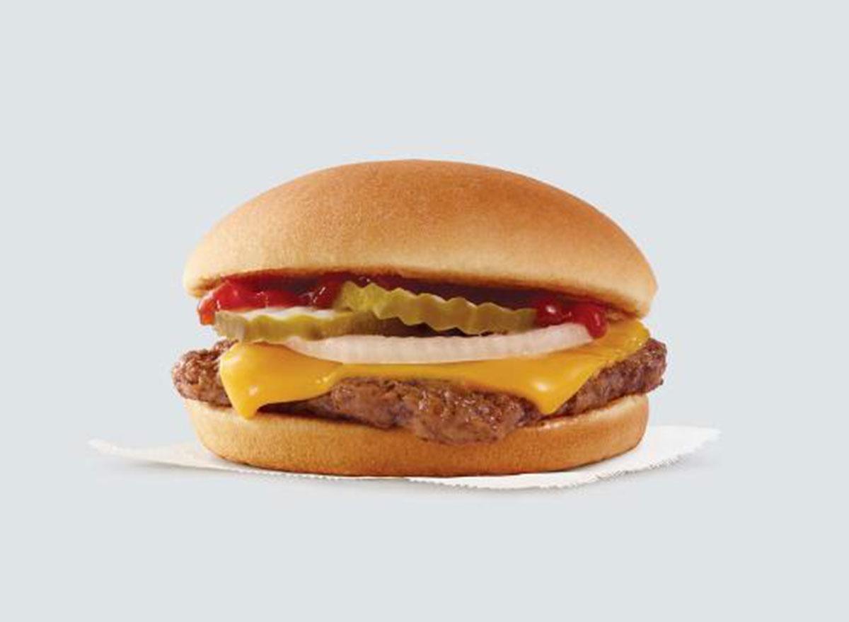 wendys junior cheeseburger