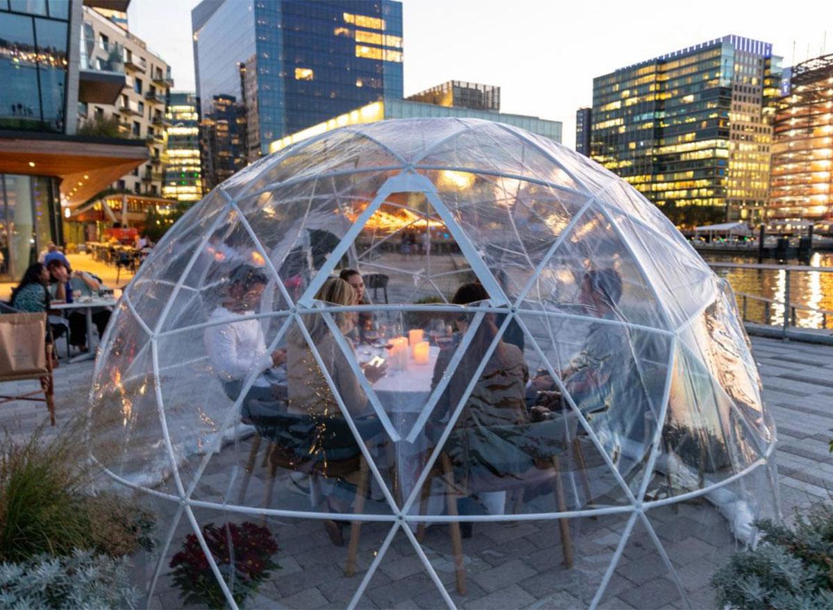 outdoor dining igloo