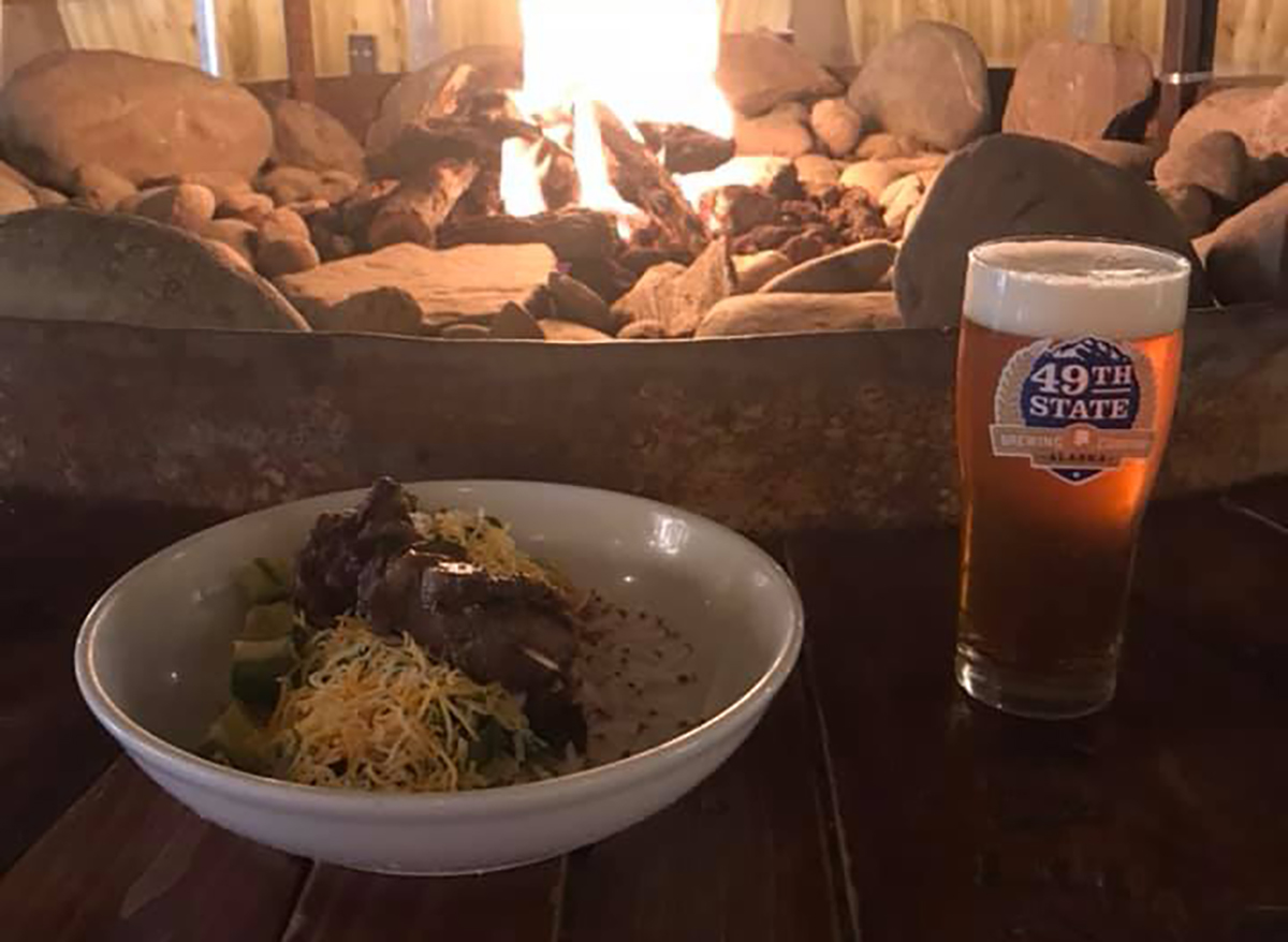 49th state brewing beer and chili bowl