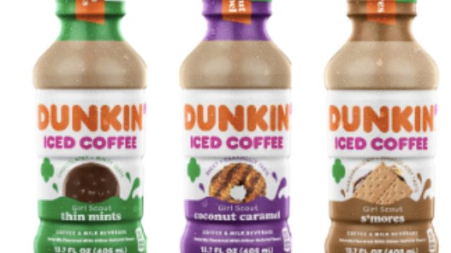 dunkin girl scout cookie iced coffee