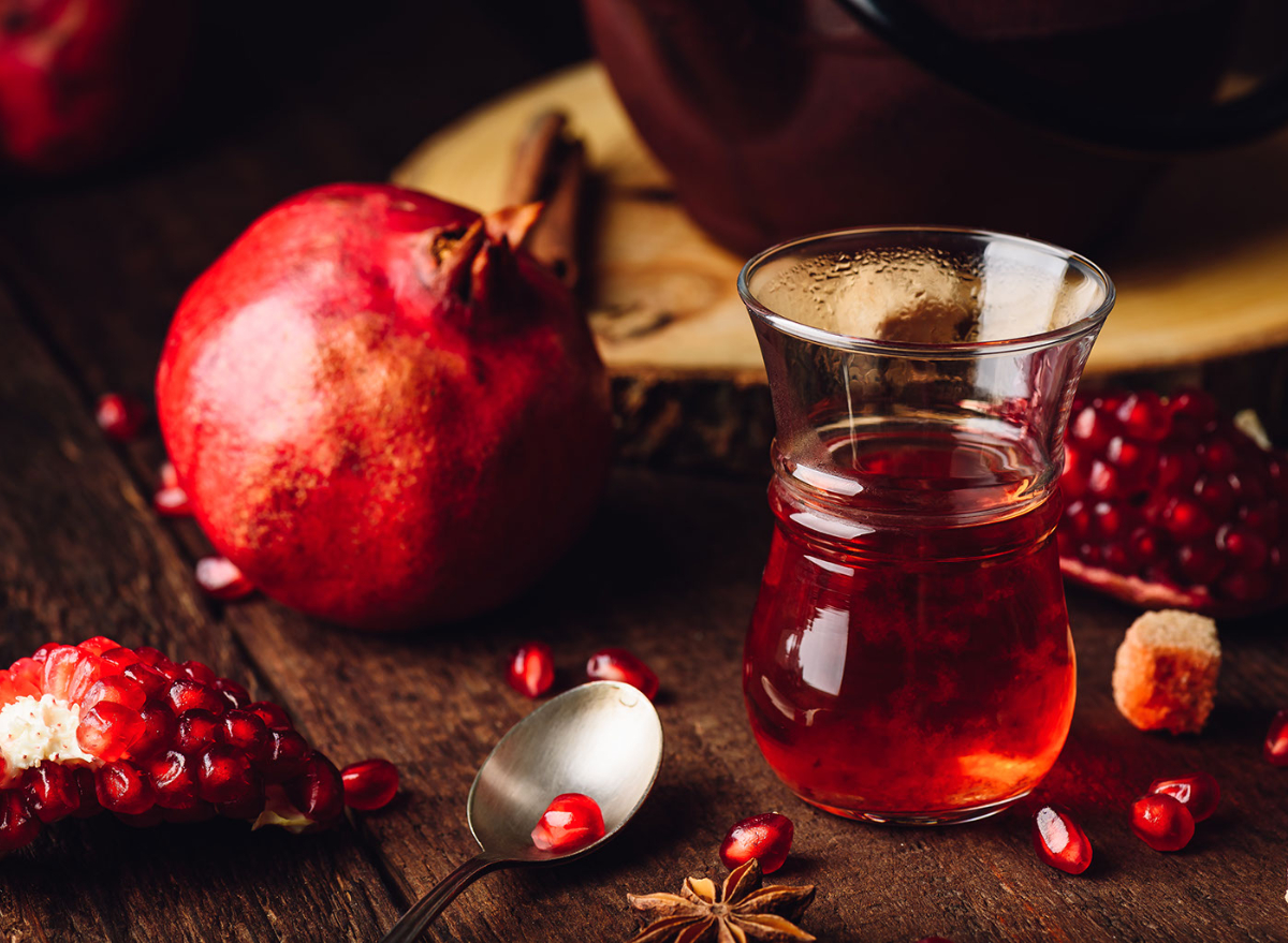 pomegranate, tea, pomegranate juice