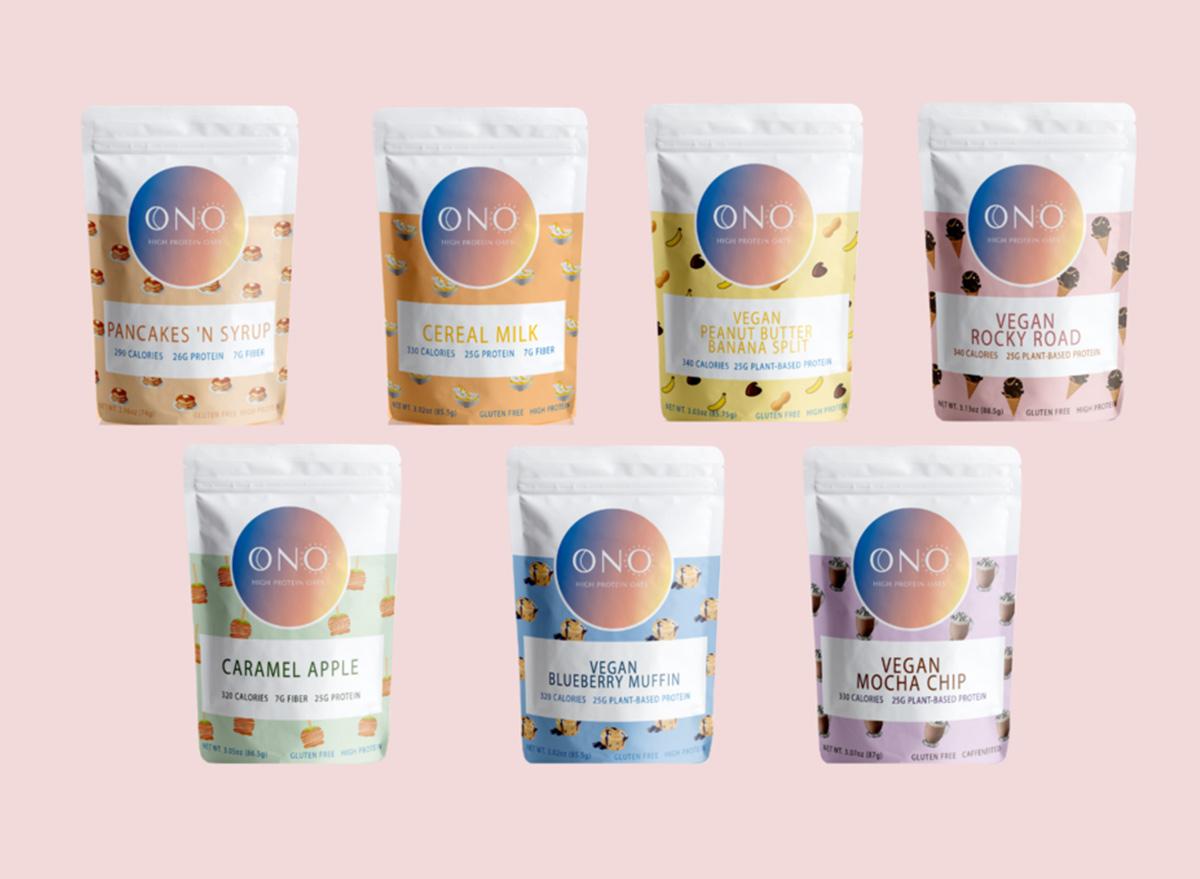 ONO overnight oats flavors