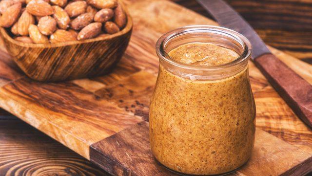 almond butter jar
