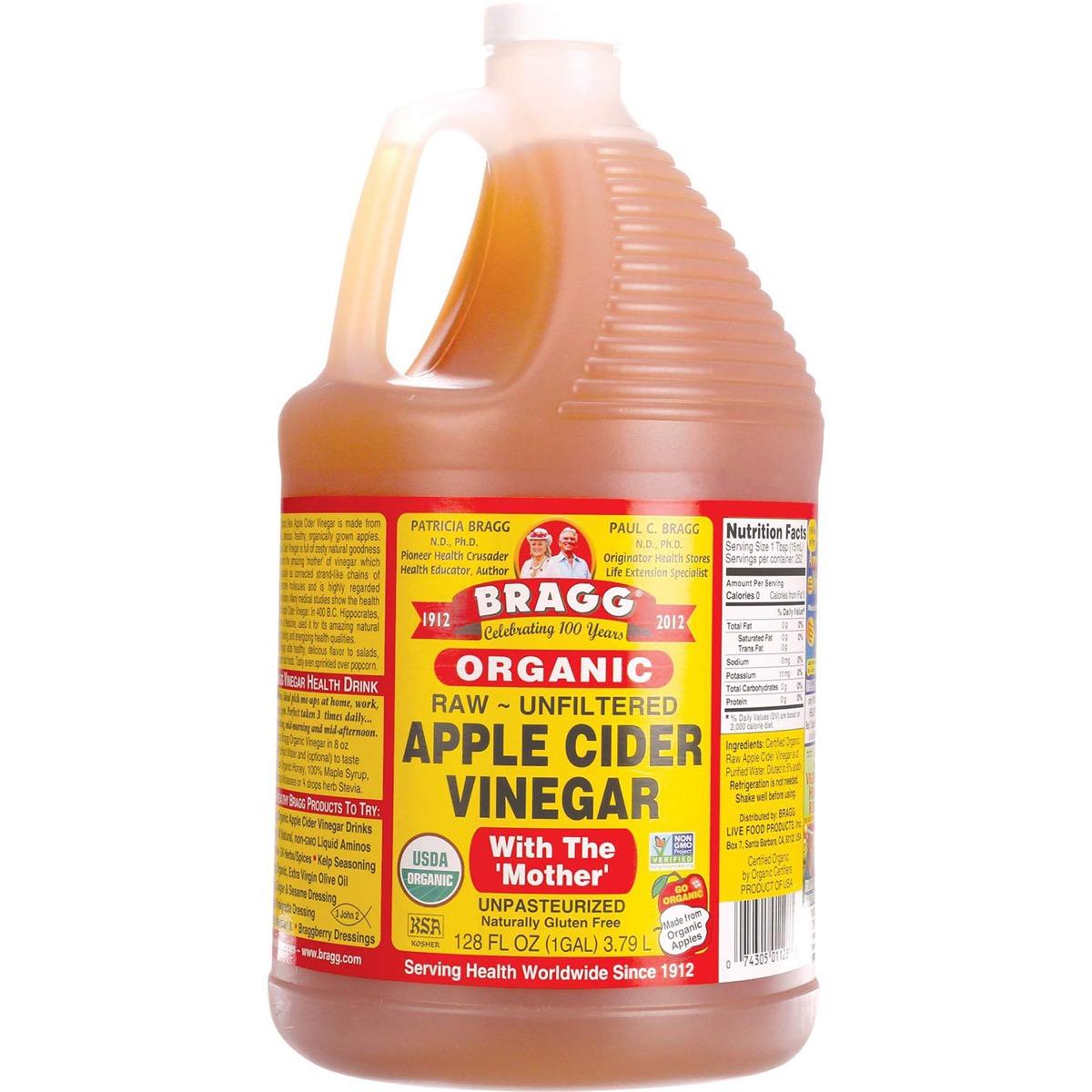 gallon jar of bragg's apple cider vinegar