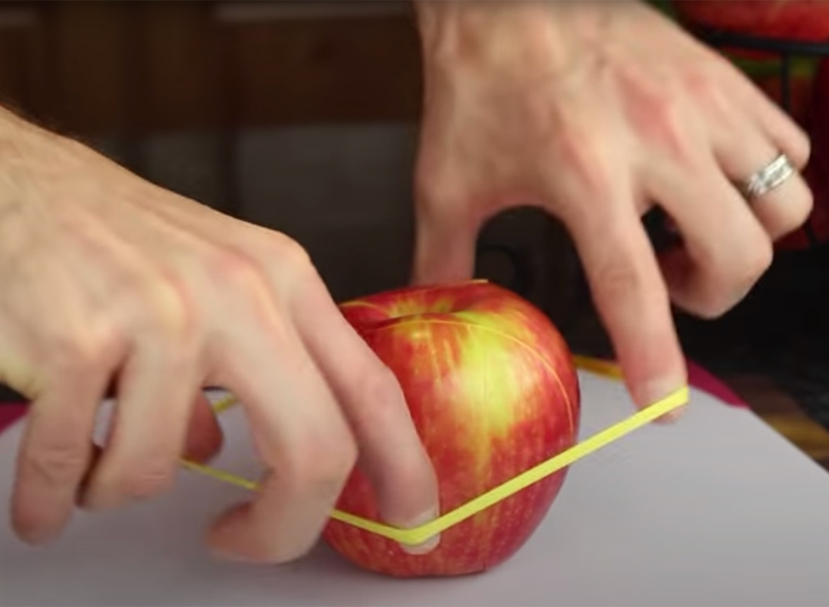 apple rubber band hack