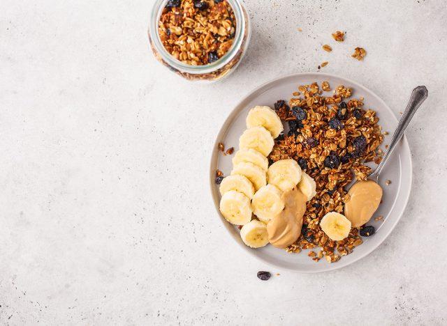 banana granola peanut butter