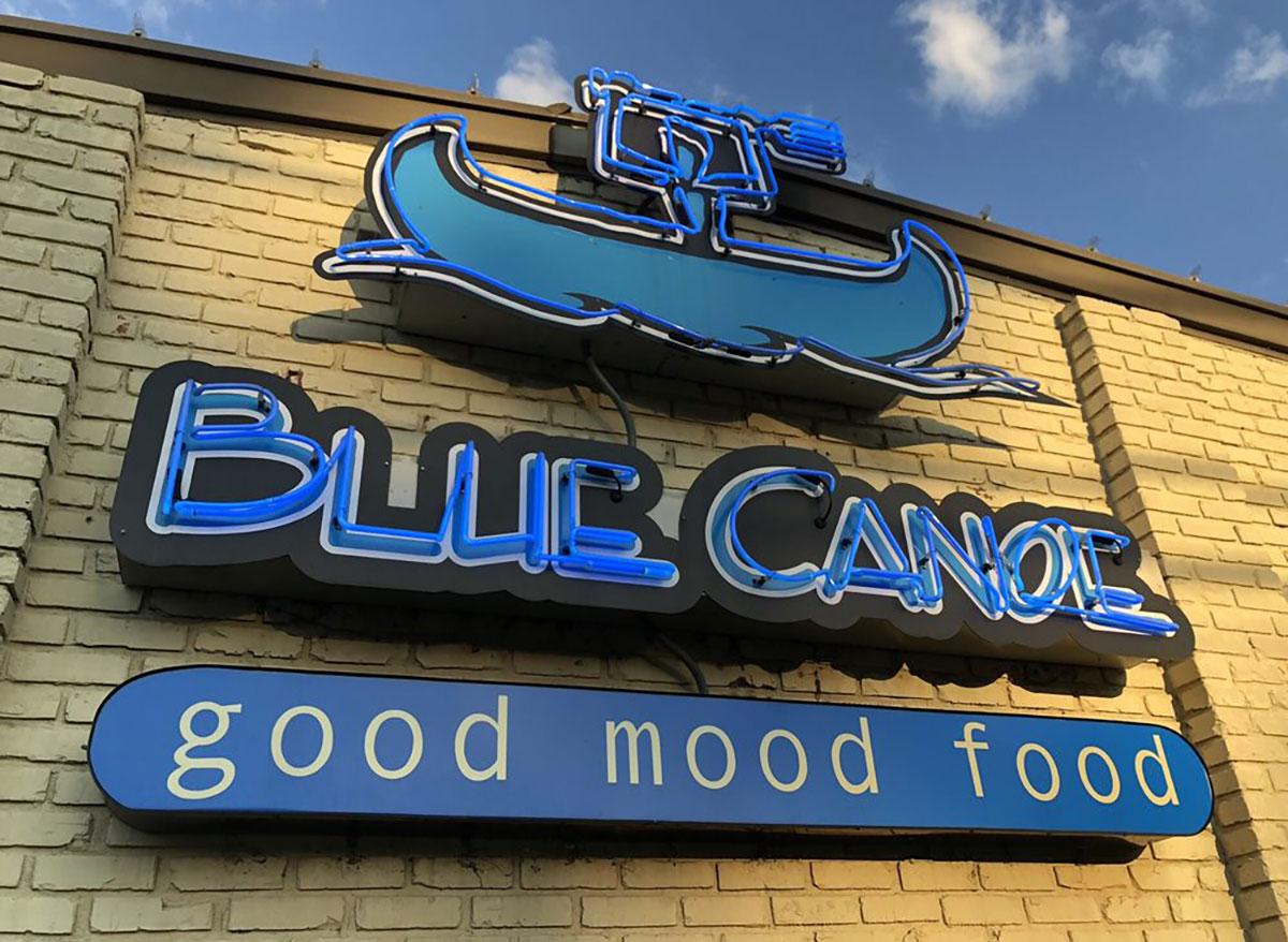 outside of blue canoe in tupelo mississippi