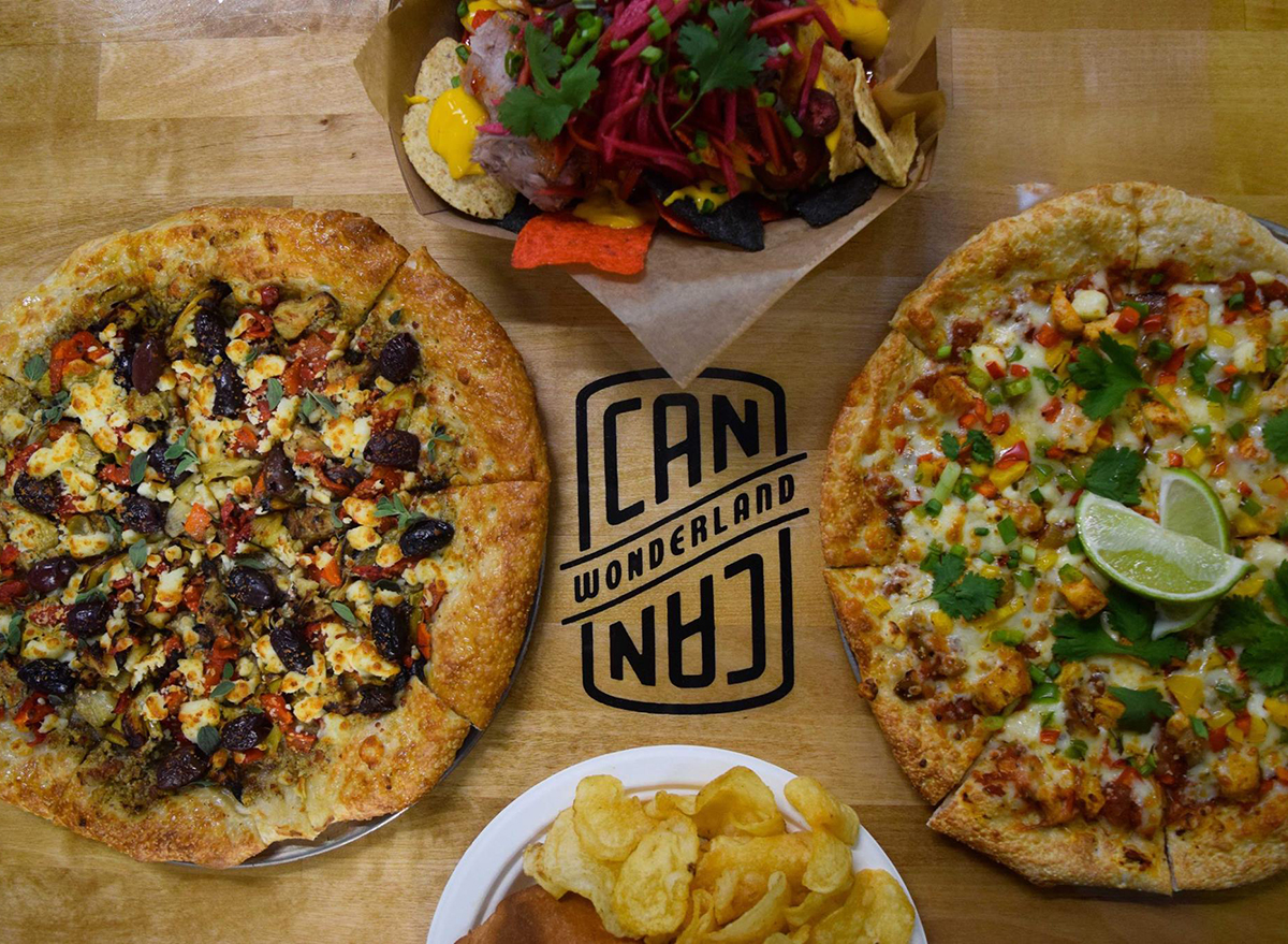 pizzas from can can wonderland