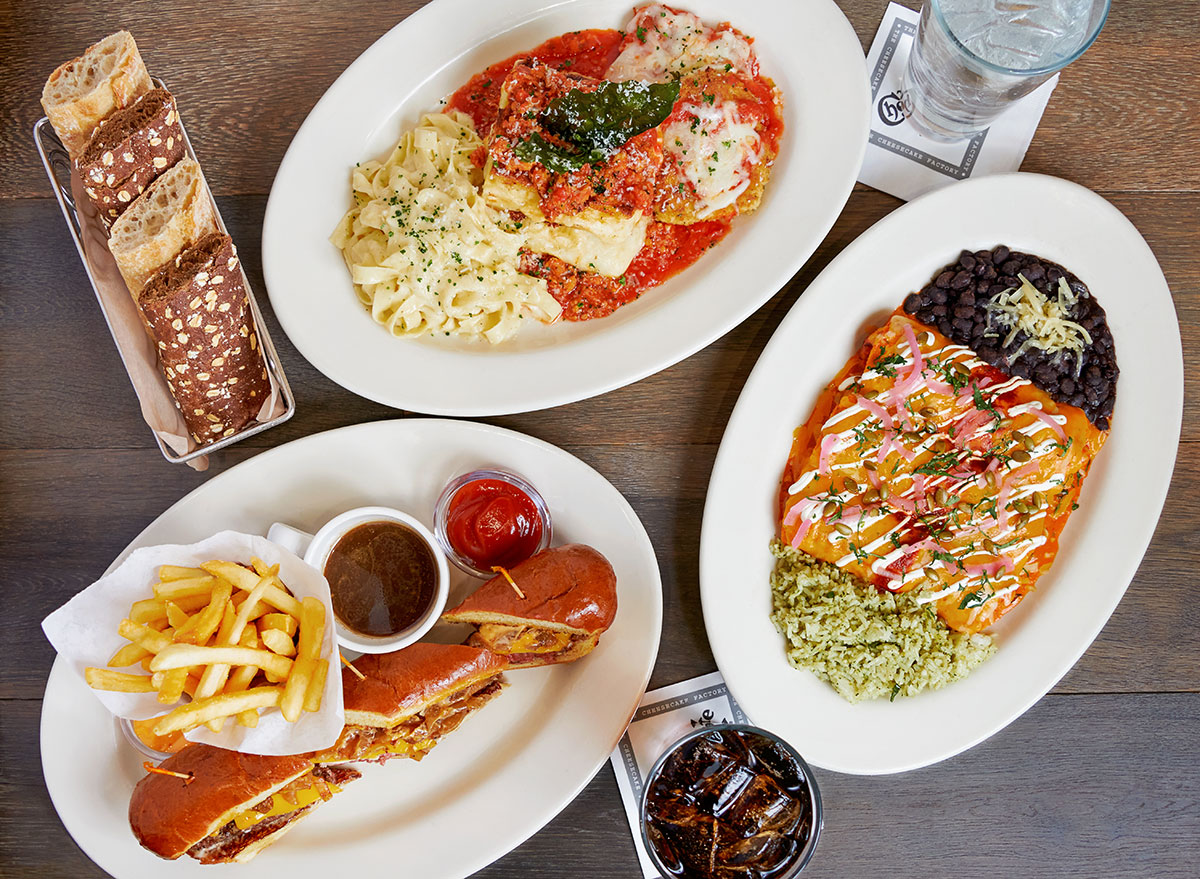 cheesecake factory new dishes