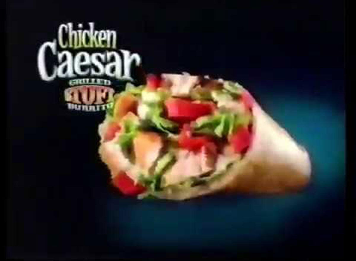 chicken caesar stuft burrito