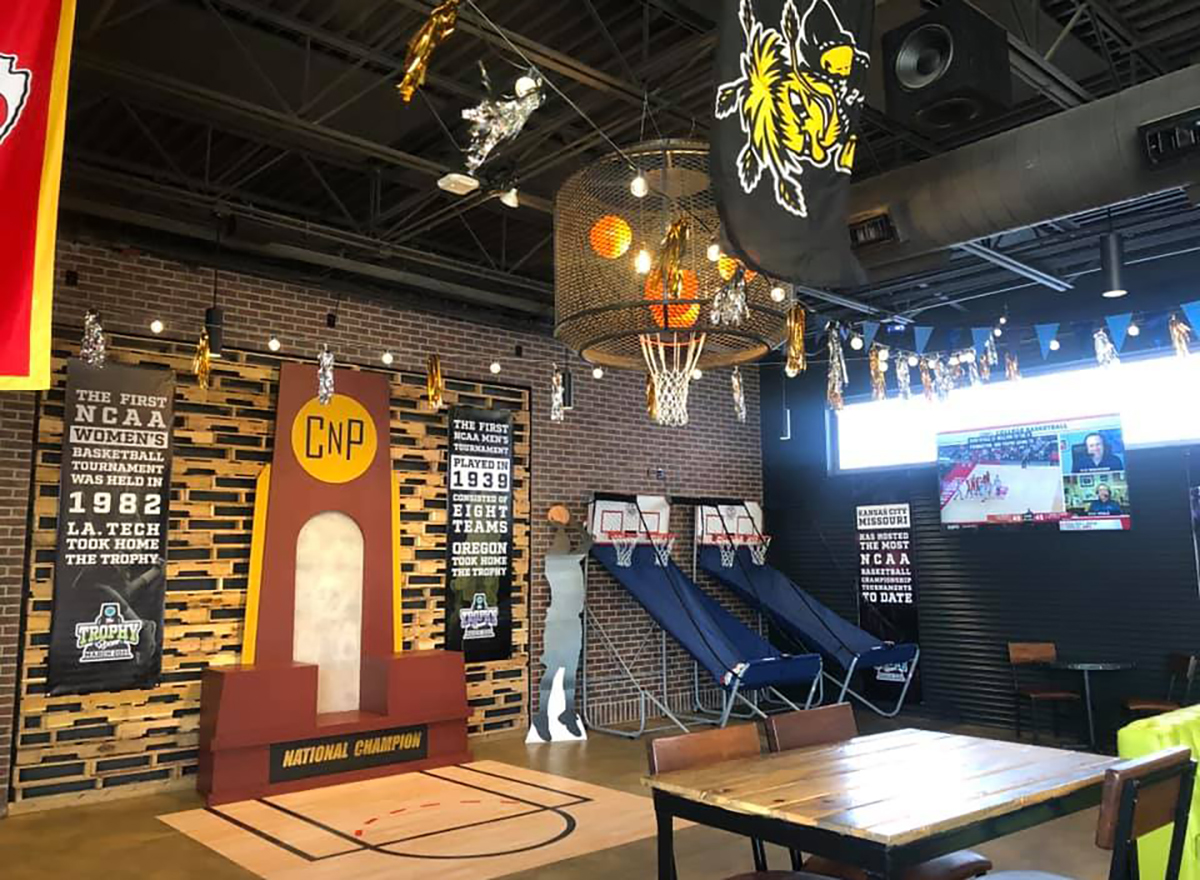 shuffleboard and indoor games at chicken n pickle in wichita