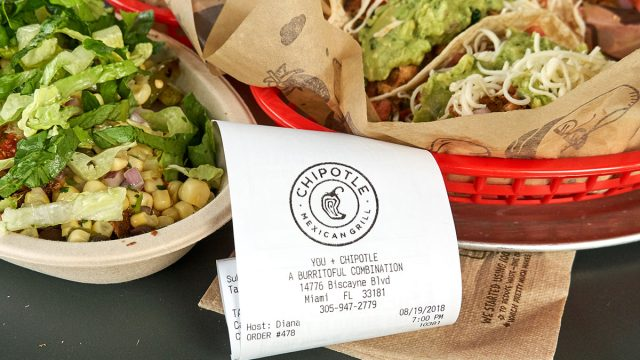 chipotle receipt