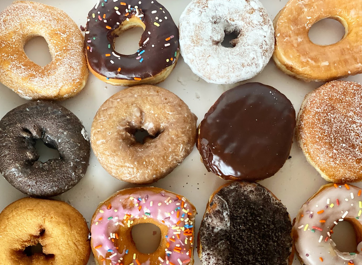 dozen dunkin donuts in box