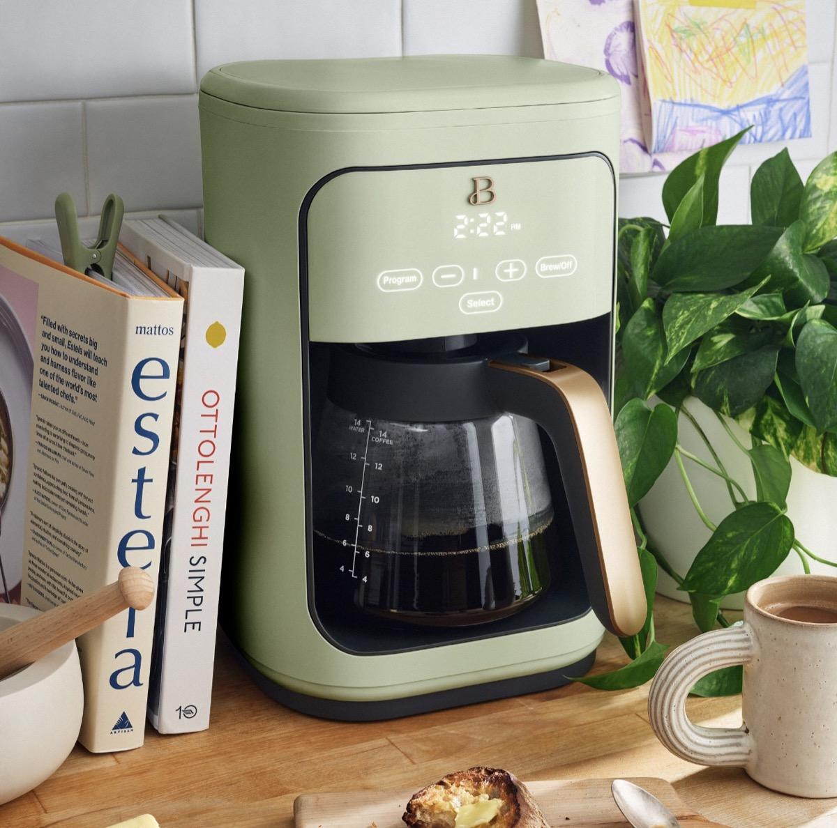 sage green coffee maker