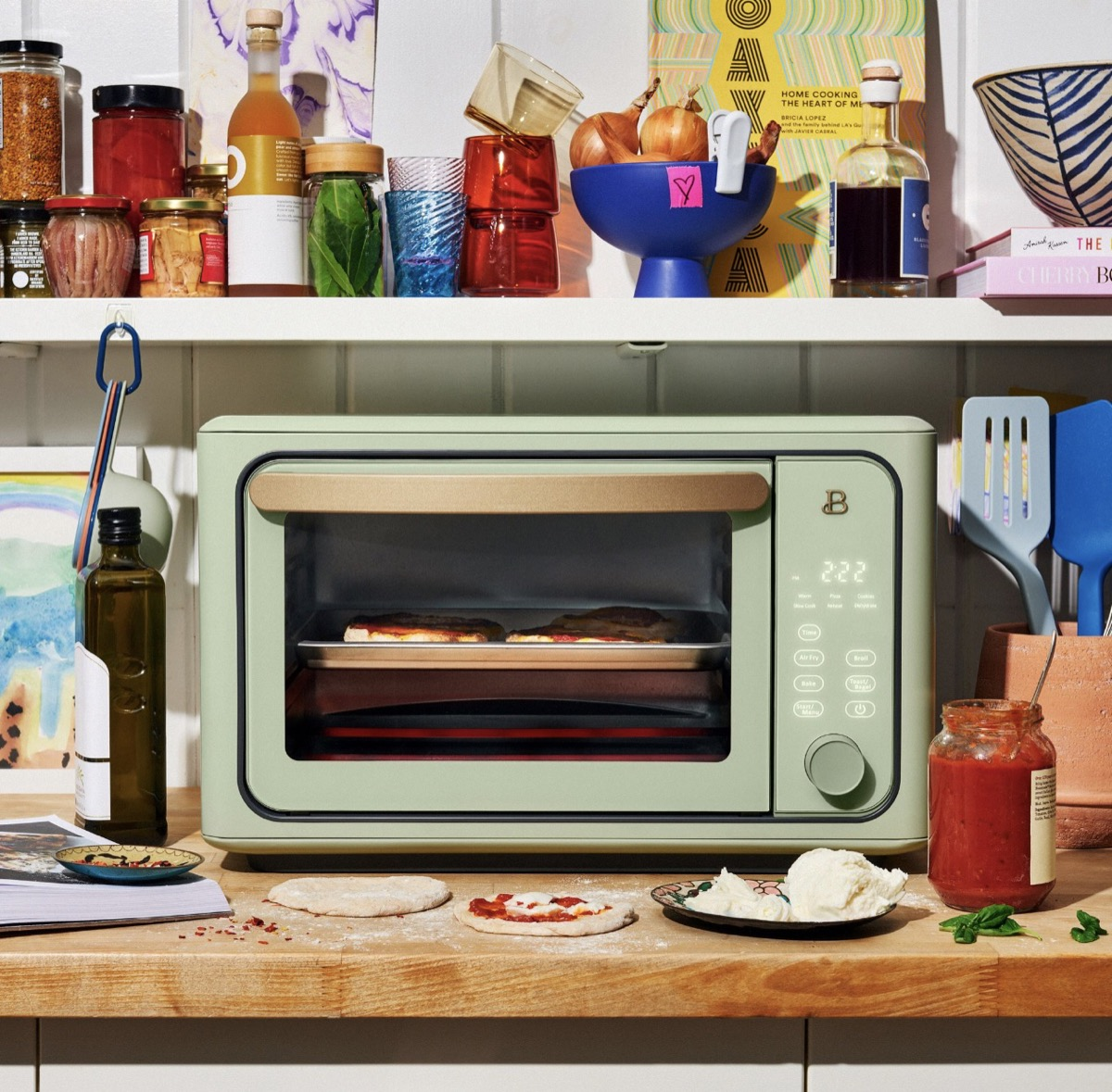 sage green air fryer toaster oven