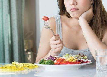 eating healthy sad