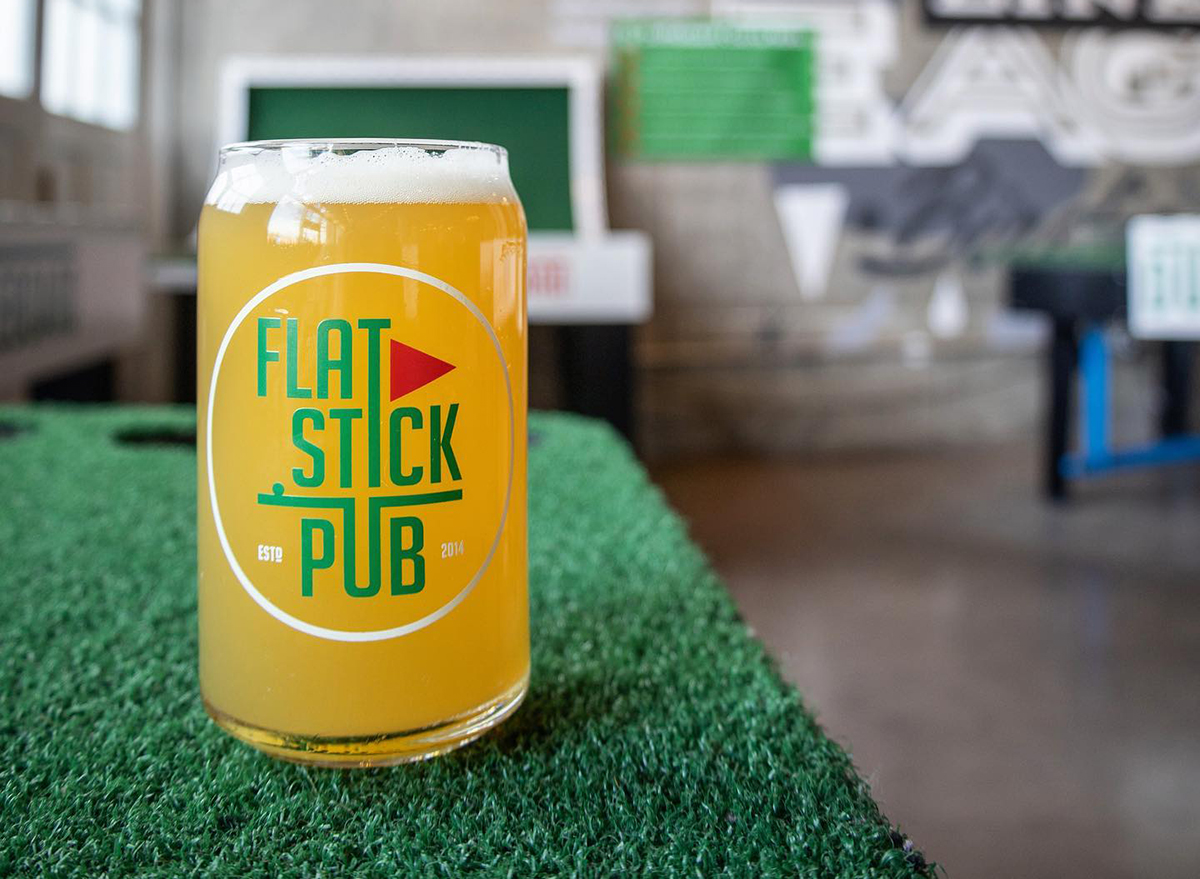 beer from flatstick pub in washington