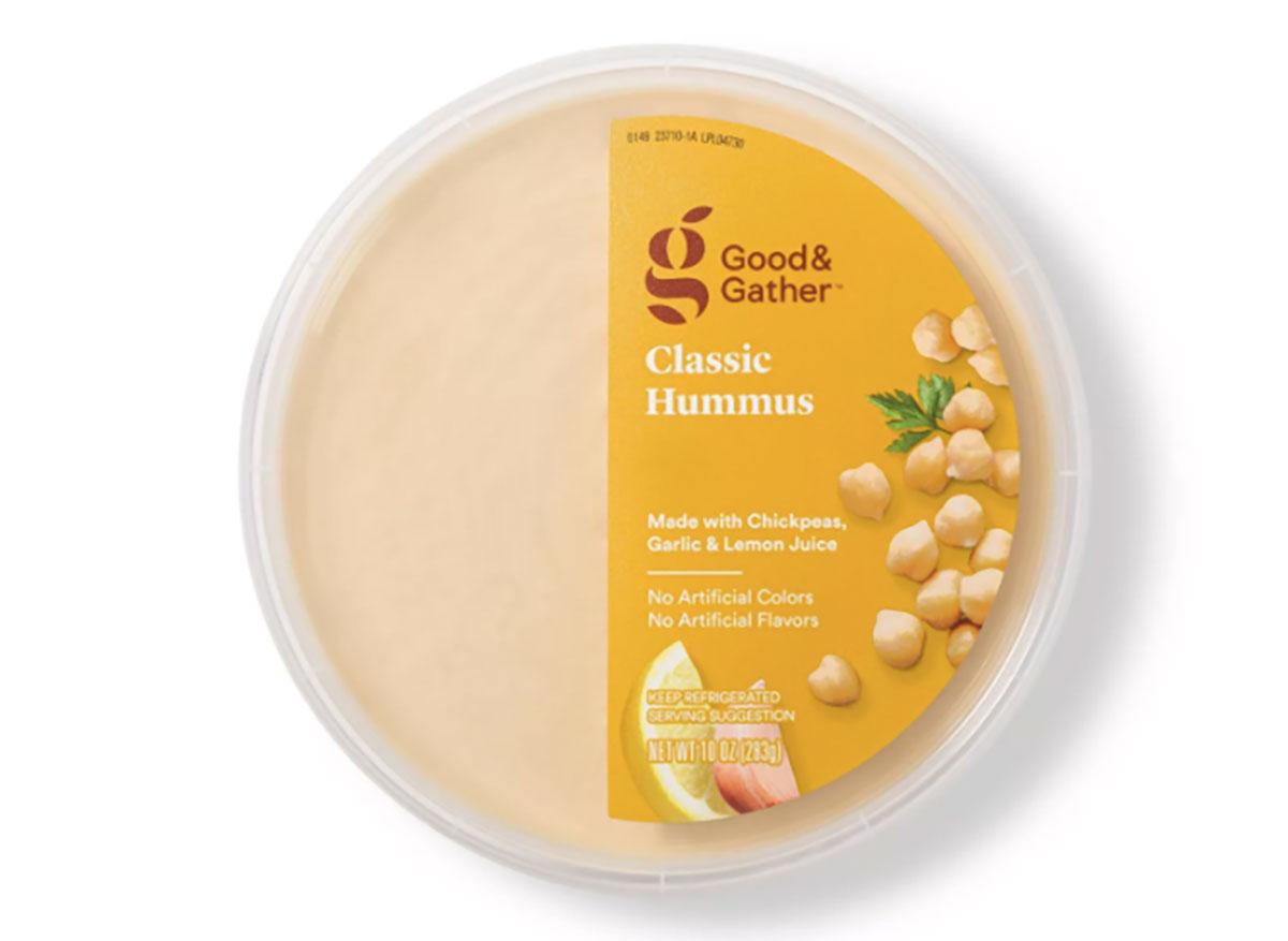 tub of good and gather hummus