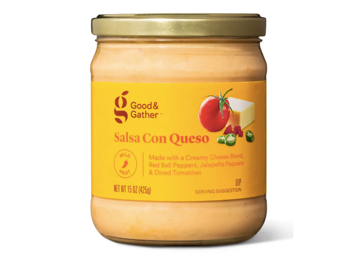 jar of good and gather salsa con queso