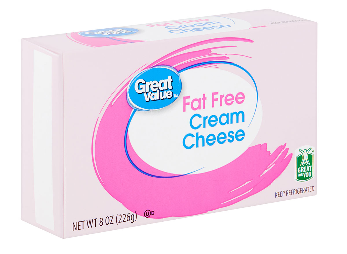 great value fat free cream cheese