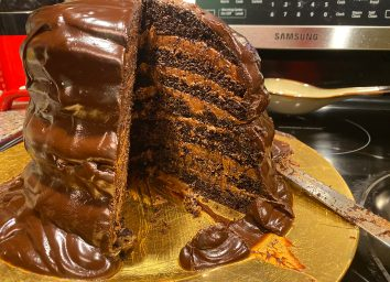 seven layer chocolate cake made with guy fieris recipe