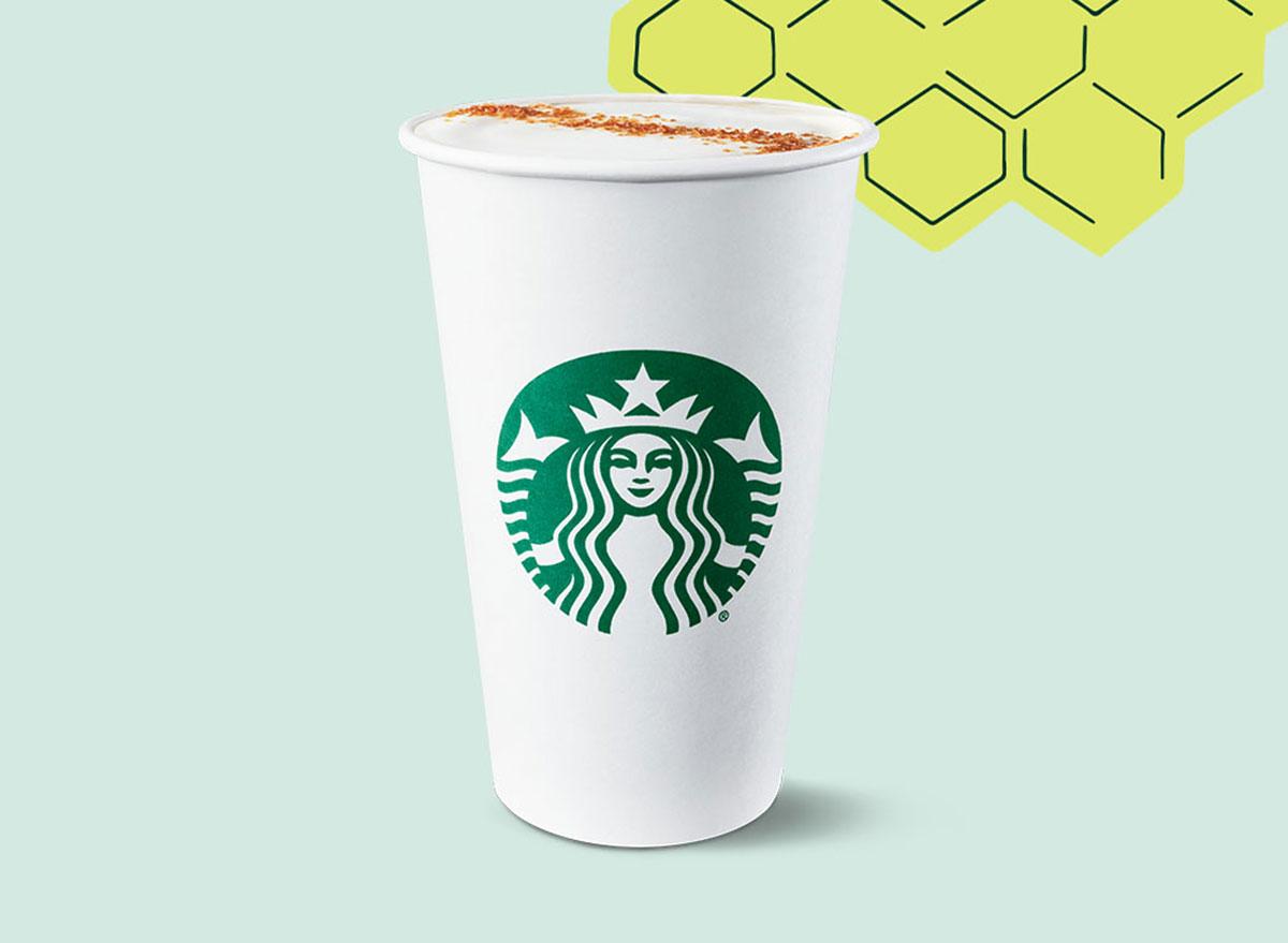 honey oatmilk latte