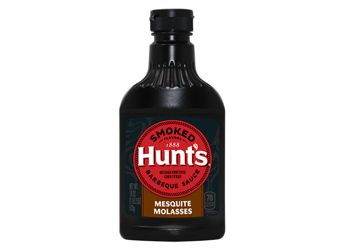 bottle of hunts barbecue sauce
