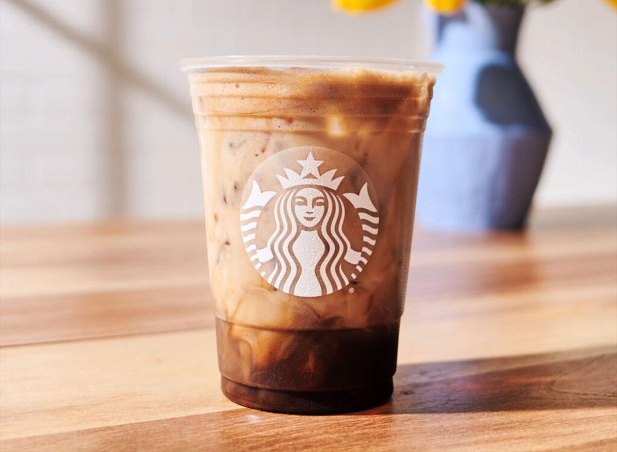 iced shaken espresso chocolate almondmilk