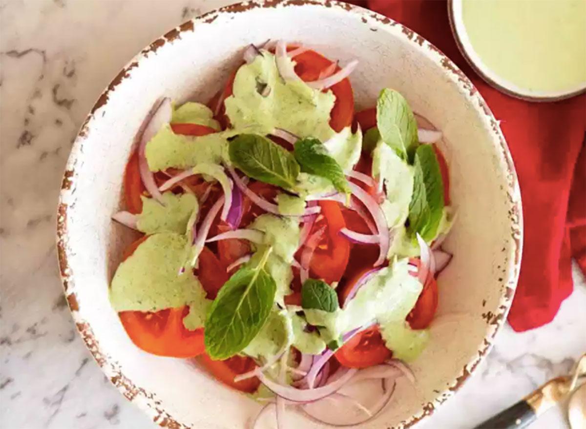 bowl of indian tomato salad