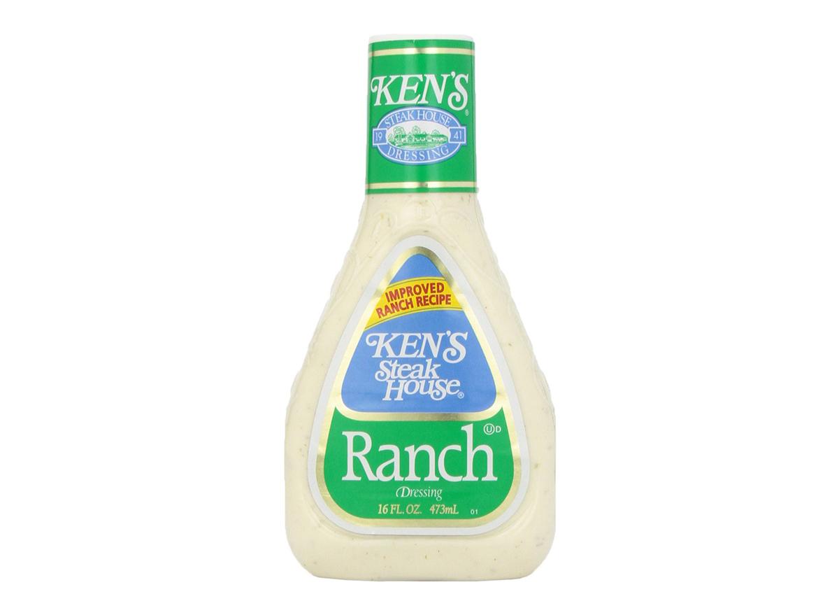 bottle of kens steakhouse ranch dressing