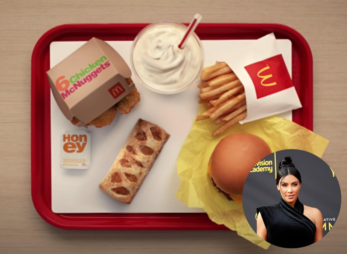 kim kardashian mcdonalds meal