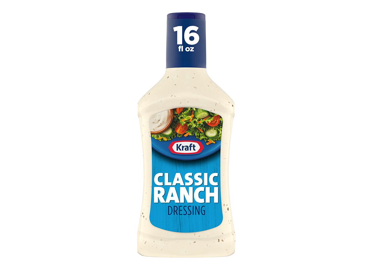 bottle of kraft ranch dressing