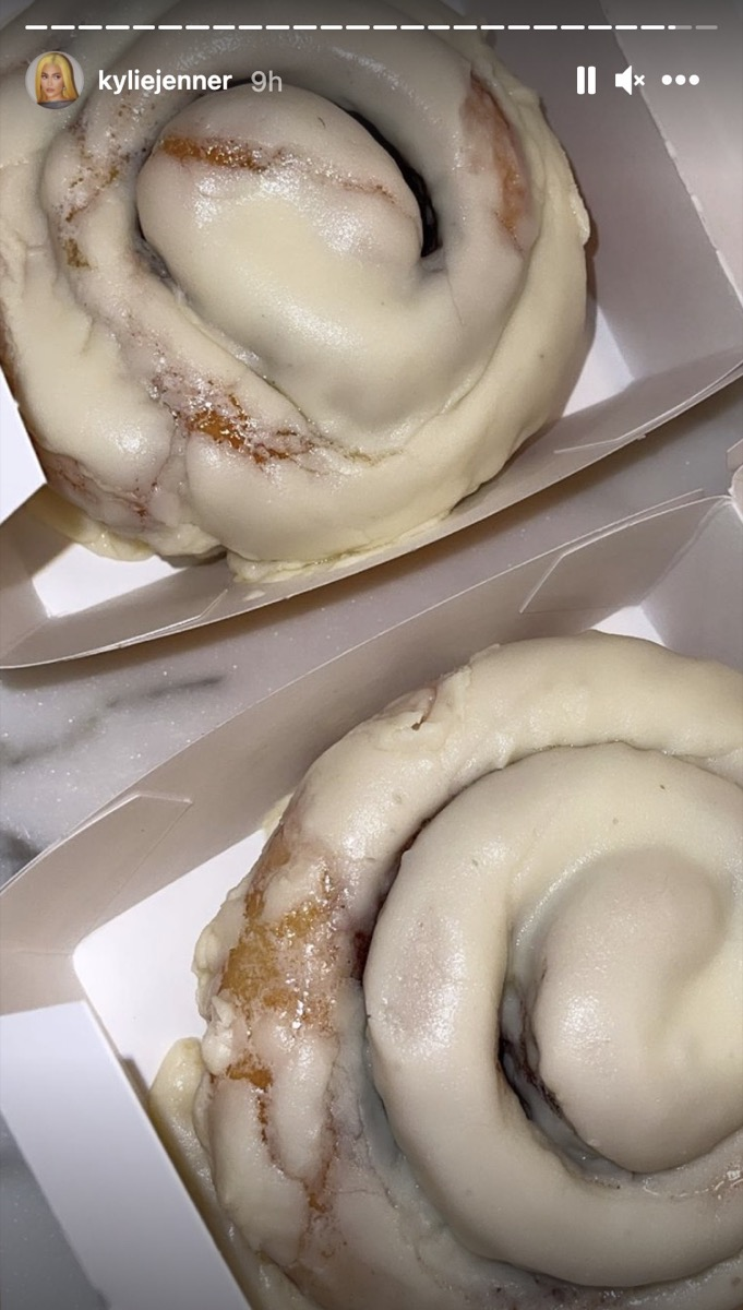two mcdonald's frosted cinnamon rolls