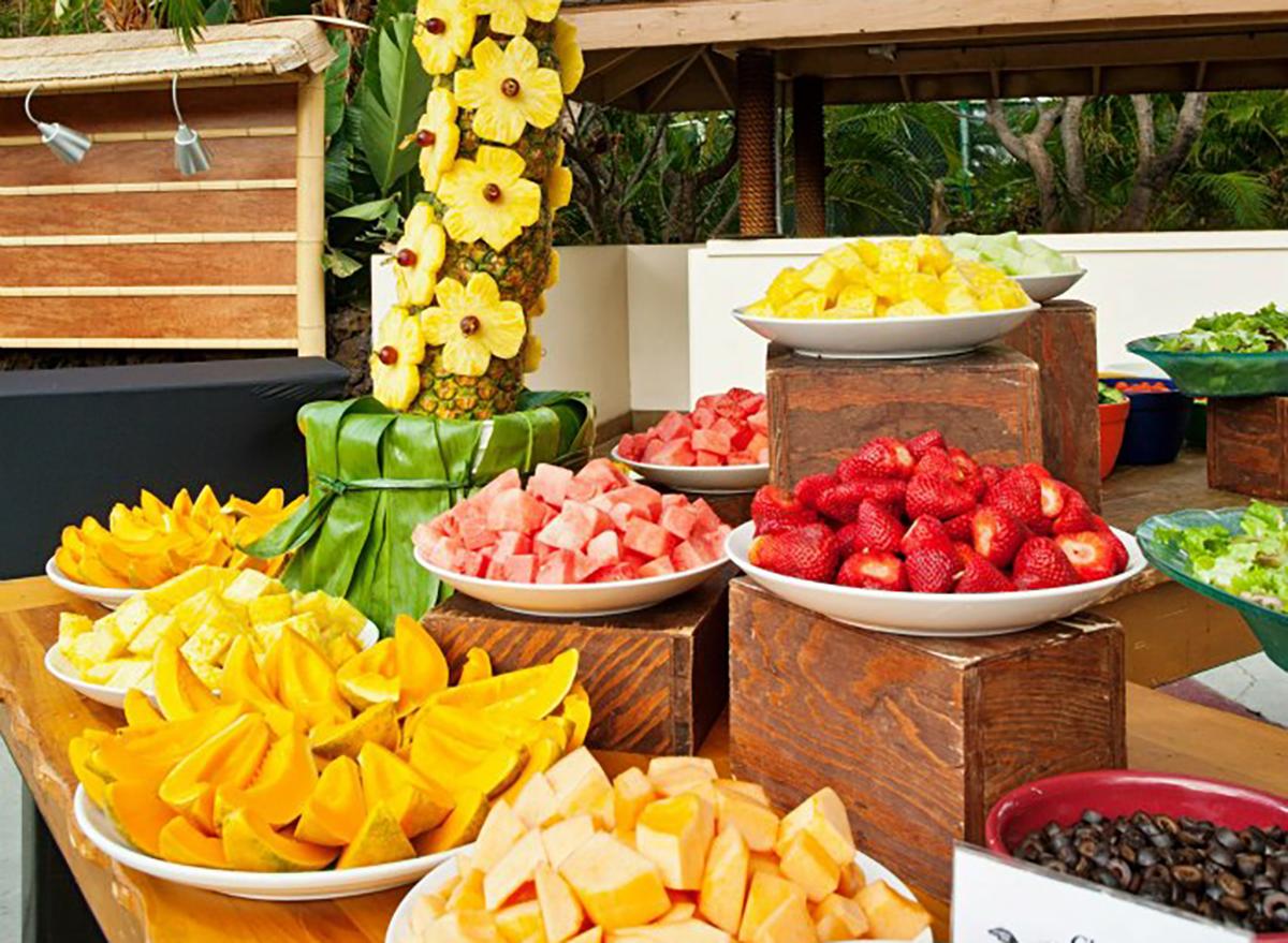 assorted cut fruit