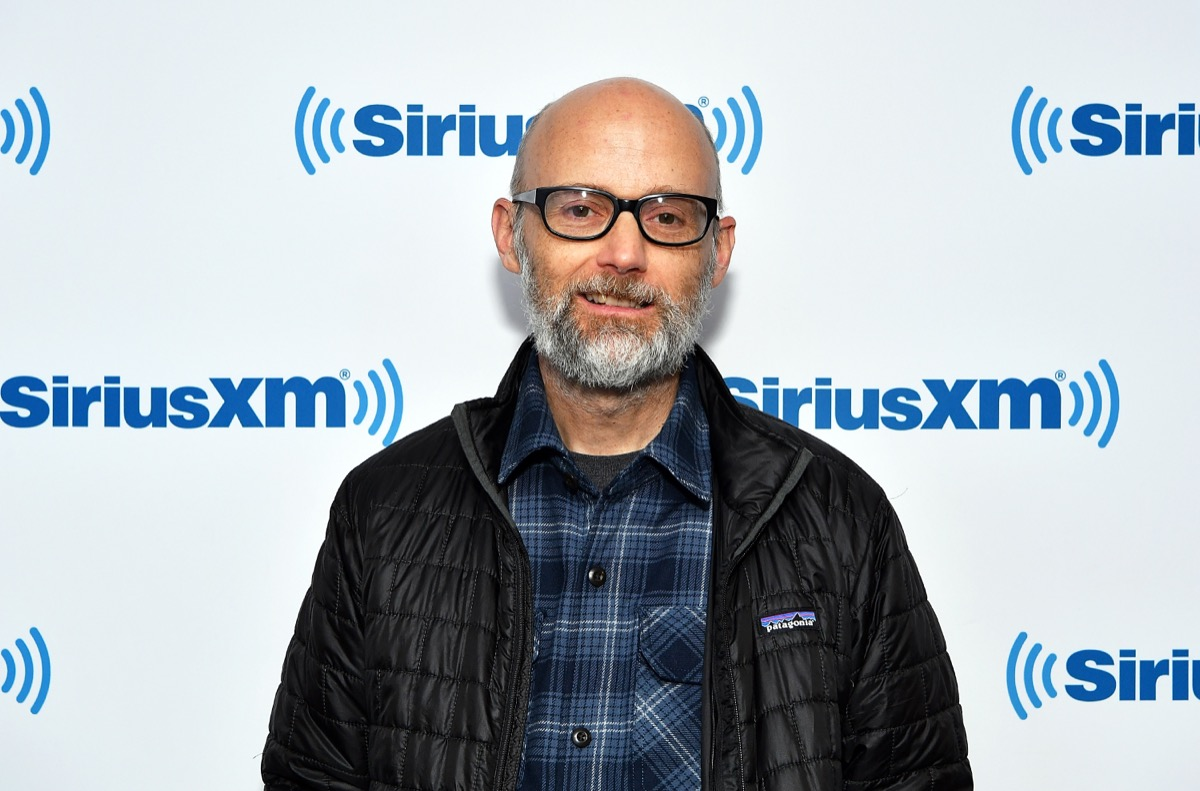 moby on red carpet for siriusxm event