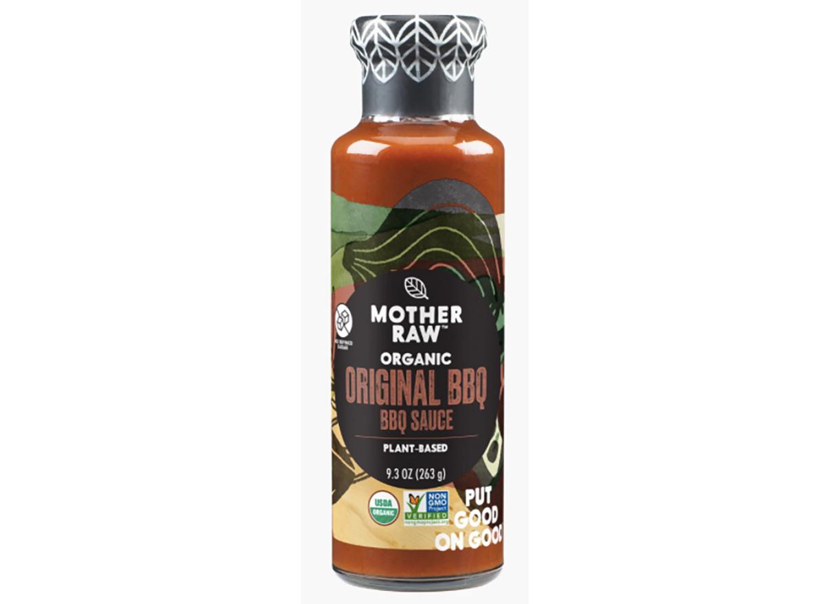 bottle of mother raw original bbq sauce
