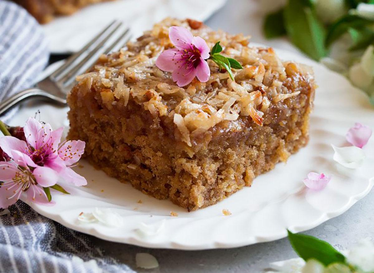 slice of oatmeal cake