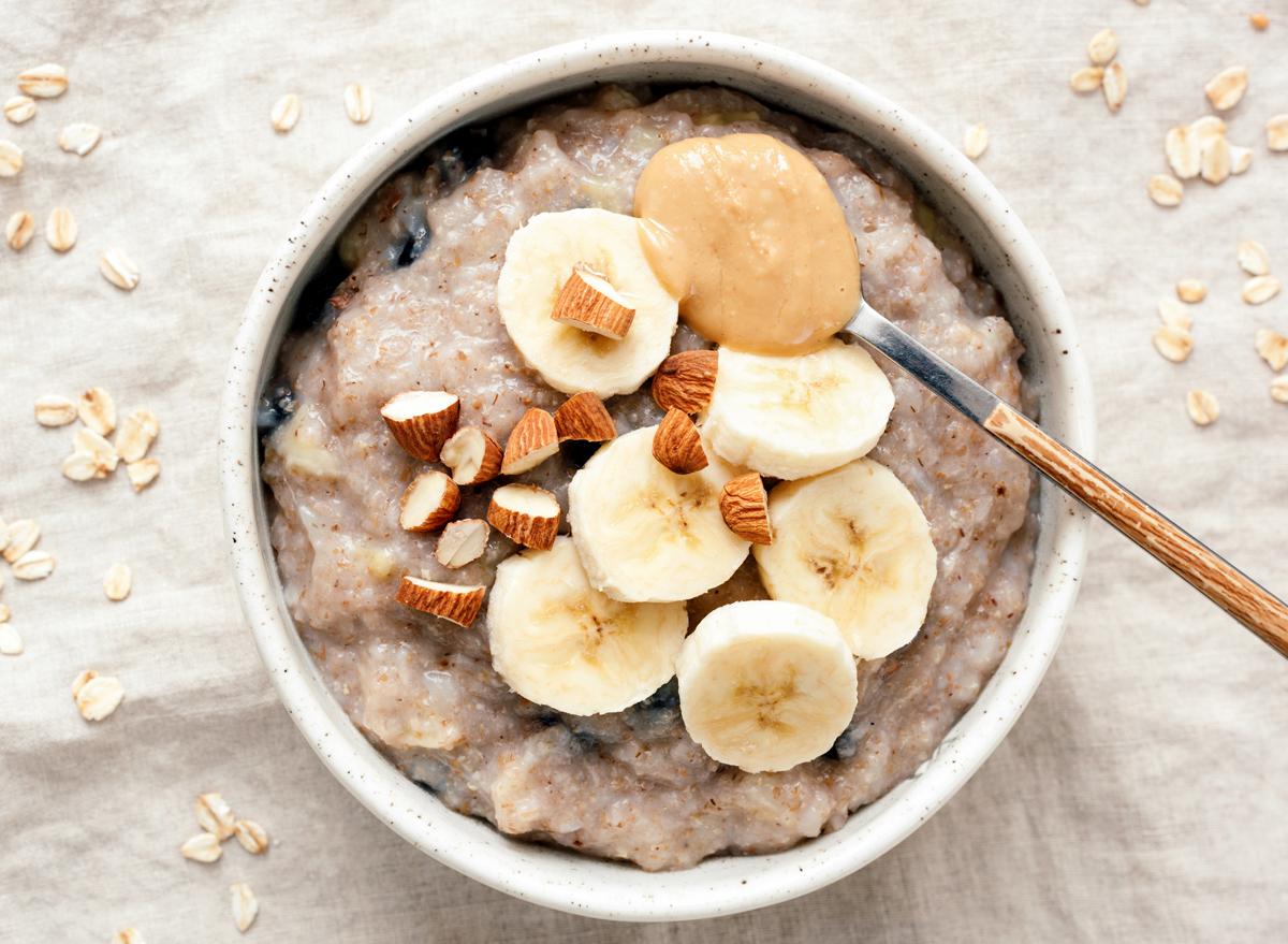oatmeal peanut butter banana almonds nuts