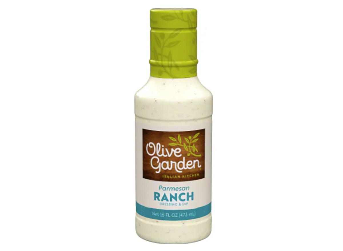 bottle of olive garden parmesan ranch dressing