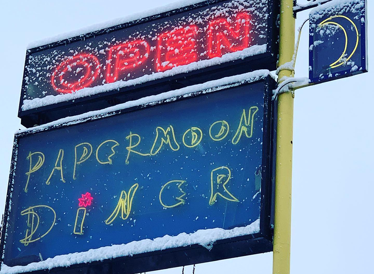 sign for papermoon diner in baltimore