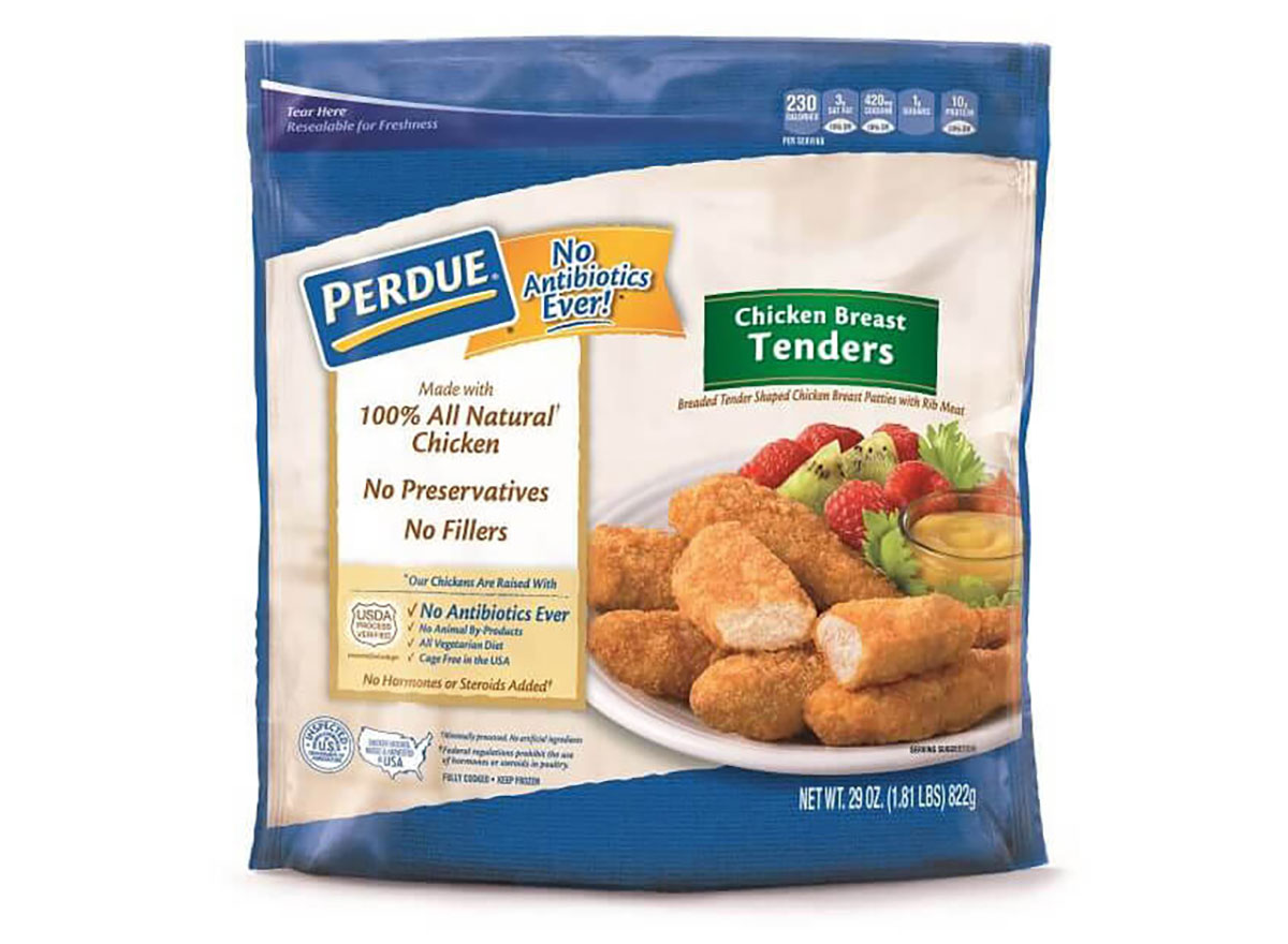 bag of frozen perdue chicken breast tenders