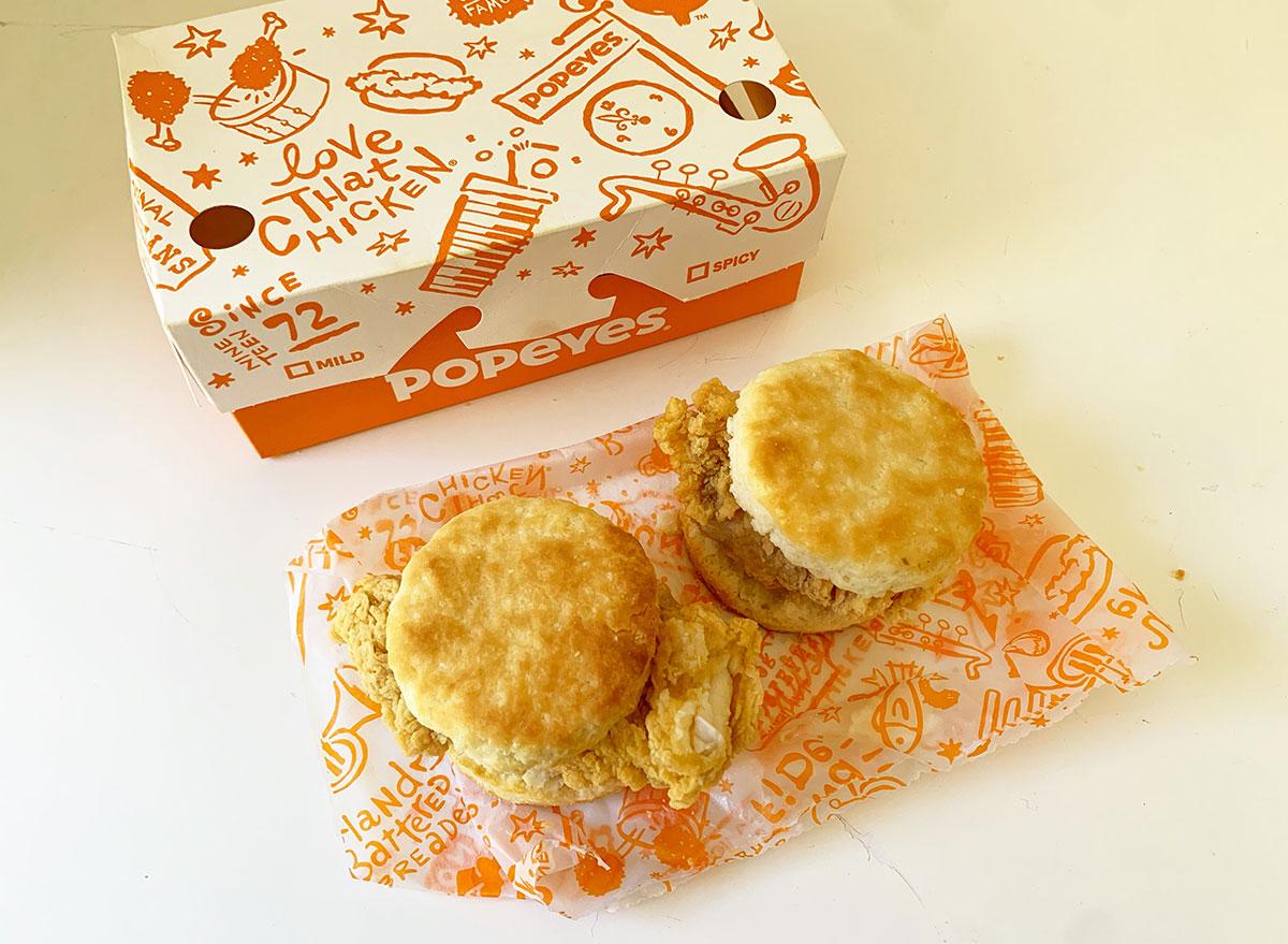 popeyes chicken biscuit
